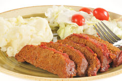 Closeup of meatloaf dinner Royalty Free Stock Photo