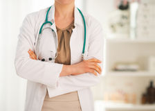 Closeup on medical doctor woman in office Stock Images