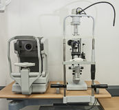 Closeup of medical equipment in an opticians clinic Royalty Free Stock Image