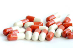 Closeup of medicine capsules Royalty Free Stock Images