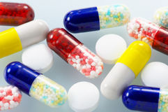 Closeup of medicines. Stock Photography