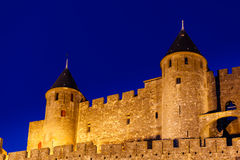 Closeup of Medieval fortress towers Royalty Free Stock Photos