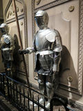 Closeup of a medieval knight Stock Images