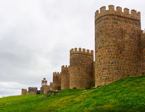 Closeup of medieval town walls Royalty Free Stock Images