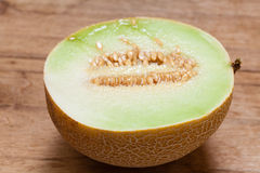 Closeup melon with pips Stock Photography