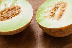 Closeup melon with pips Royalty Free Stock Photo