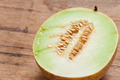 Closeup melon with pips Royalty Free Stock Images