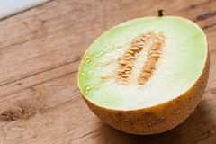 Closeup melon with pips Royalty Free Stock Image