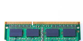 Memory Ram Module. Closeup of a memory Ram chip module Stock Photo
