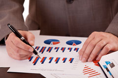 Closeup men hands with business documents Stock Photo