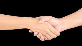 Closeup men's handshaking Stock Images