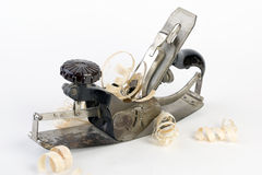 Closeup of metal carpenter Planer Royalty Free Stock Images