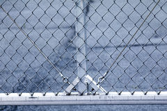 Closeup of metal chain link fencing Stock Photography