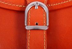 Closeup of metal clasp handbag Stock Image