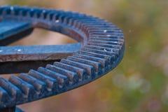 Closeup of metal cog gears Royalty Free Stock Image