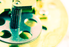 Closeup of metal cog gears Stock Photography