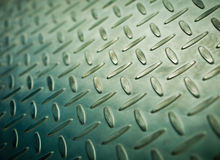 Closeup of metal diamond plate Royalty Free Stock Images