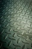 Closeup of metal diamond plate Stock Images