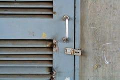 Closeup metal door with lock Royalty Free Stock Photography