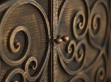 Closeup metal grate Royalty Free Stock Images