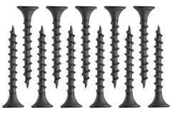 Closeup of metal screws Stock Photography