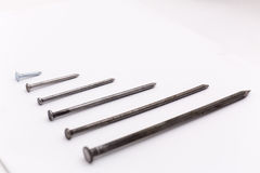 Closeup of metalic screws Royalty Free Stock Image
