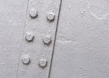 Closeup of metallic structure Stock Images