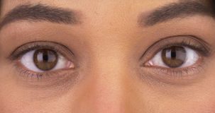 Closeup of Mexican woman's eyes Stock Photo