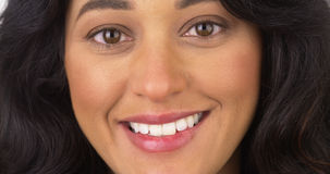 Closeup of Mexican woman smiling Stock Photo
