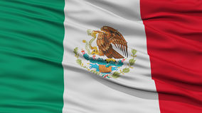 Closeup Mexico Flag Royalty Free Stock Image