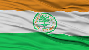 Closeup of Miami City Flag Royalty Free Stock Images