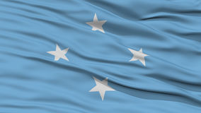 Closeup Micronesia Flag. Waving in the Wind, High Resolution Royalty Free Stock Photography