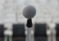 Closeup of Microphone Royalty Free Stock Images
