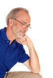 Closeup of a middle age male. Stock Photography