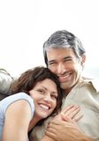 Closeup of middle aged couple in love Stock Photo