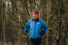 Closeup of a middle aged male runner Royalty Free Stock Images