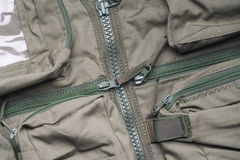 Closeup of military uniform Stock Images