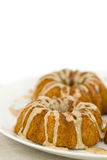 Closeup of Mini Bundt Cakes on Plate Royalty Free Stock Photography