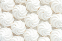 Closeup of Mini Meringues as Food Background Stock Photos