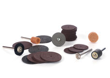 Closeup of mini rotary tool bits Stock Photography