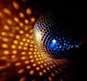Closeup of a mirrorball on a white Royalty Free Stock Photos
