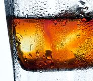 Closeup misted glass of whiskey Royalty Free Stock Image