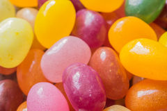 Closeup on mix of jelly beans Royalty Free Stock Images