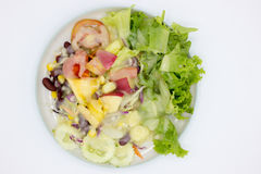 Closeup mixed of fresh salad and fruit. Stock Photography