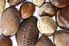 Closeup of Mixed Nuts Royalty Free Stock Photos