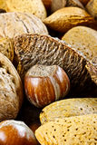 Closeup of mixed nuts Royalty Free Stock Image