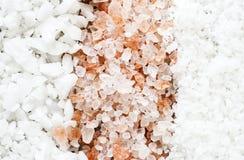 Closeup of mixed salt collection stock image