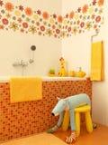 Closeup of modern bathroom Royalty Free Stock Image
