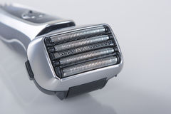 Closeup Of Modern Electric Shaver. Closeup Of Modern Electric 5 blades Shaver. Horizontal Image Royalty Free Stock Photo