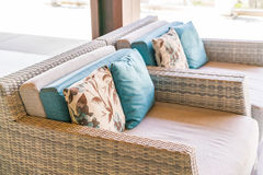 Closeup of modern furniture with pillows . Stock Images